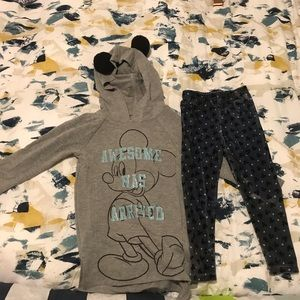 Disney Mickey Mouse Sweater and Velvet Pants Set